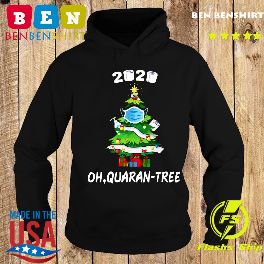 2020 Funny Quarantine Christmas Tree Ornament Mask Sweats Hoodie