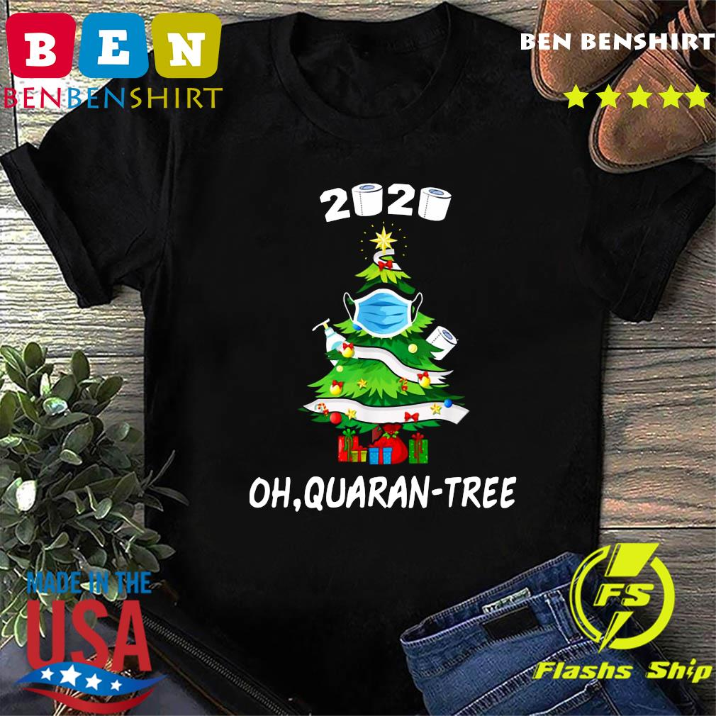 2020 Funny Quarantine Christmas Tree Ornament Mask Sweats Shirt