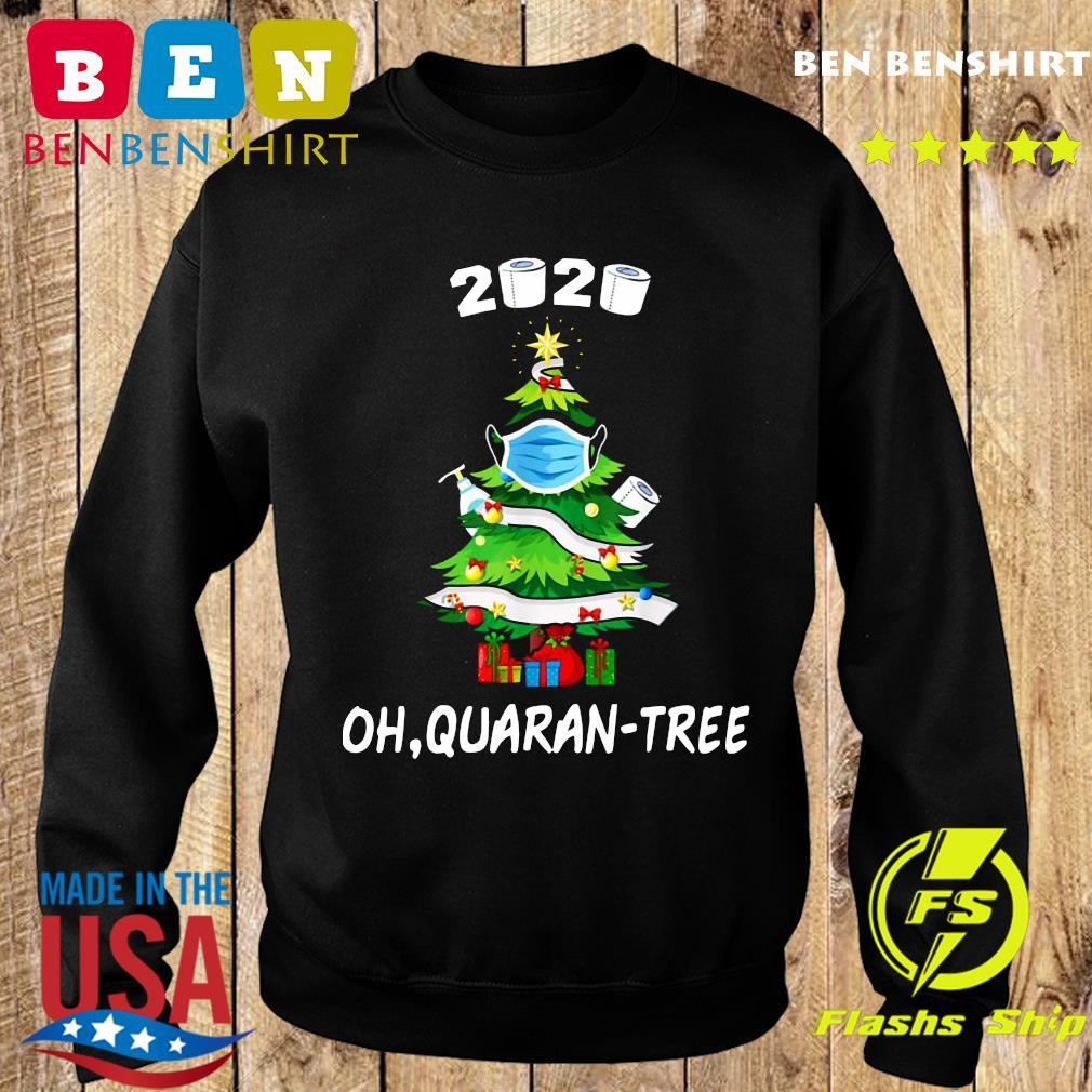 2020 Funny Quarantine Christmas Tree Ornament Mask Sweatshirt