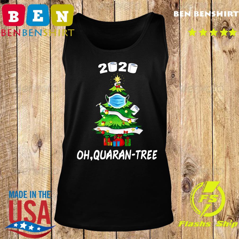2020 Funny Quarantine Christmas Tree Ornament Mask Sweats Tank top