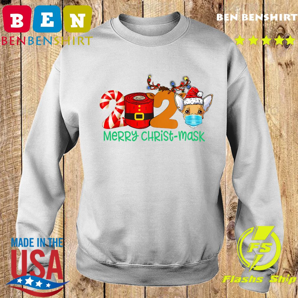 2020 Reindeer Face Mask Merry Christ-mask Merry Christmas Sweatshirt