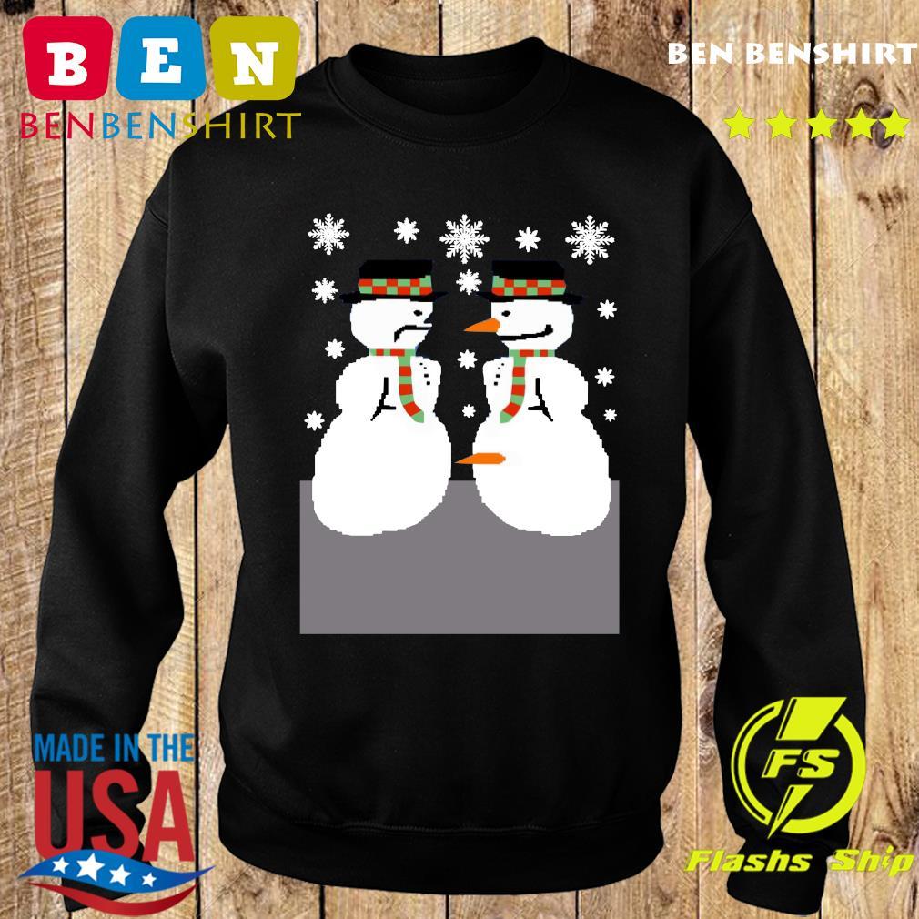 2020 snowman nose thief ugly christmas sweatshirt