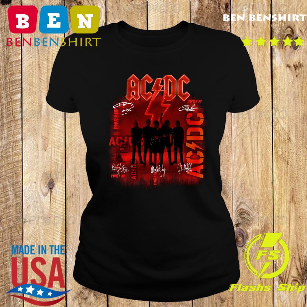 Ac Dc Rock Band Power Up Album Album Signatures Shirt Ladies tee