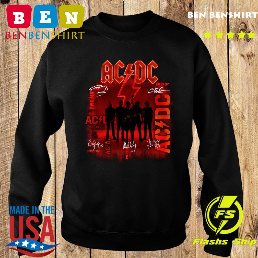 Ac Dc Rock Band Power Up Album Album Signatures Shirt Sweater