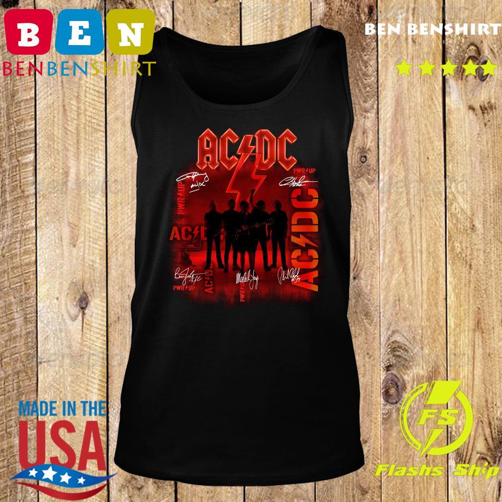 Ac Dc Rock Band Power Up Album Album Signatures Shirt Tank top