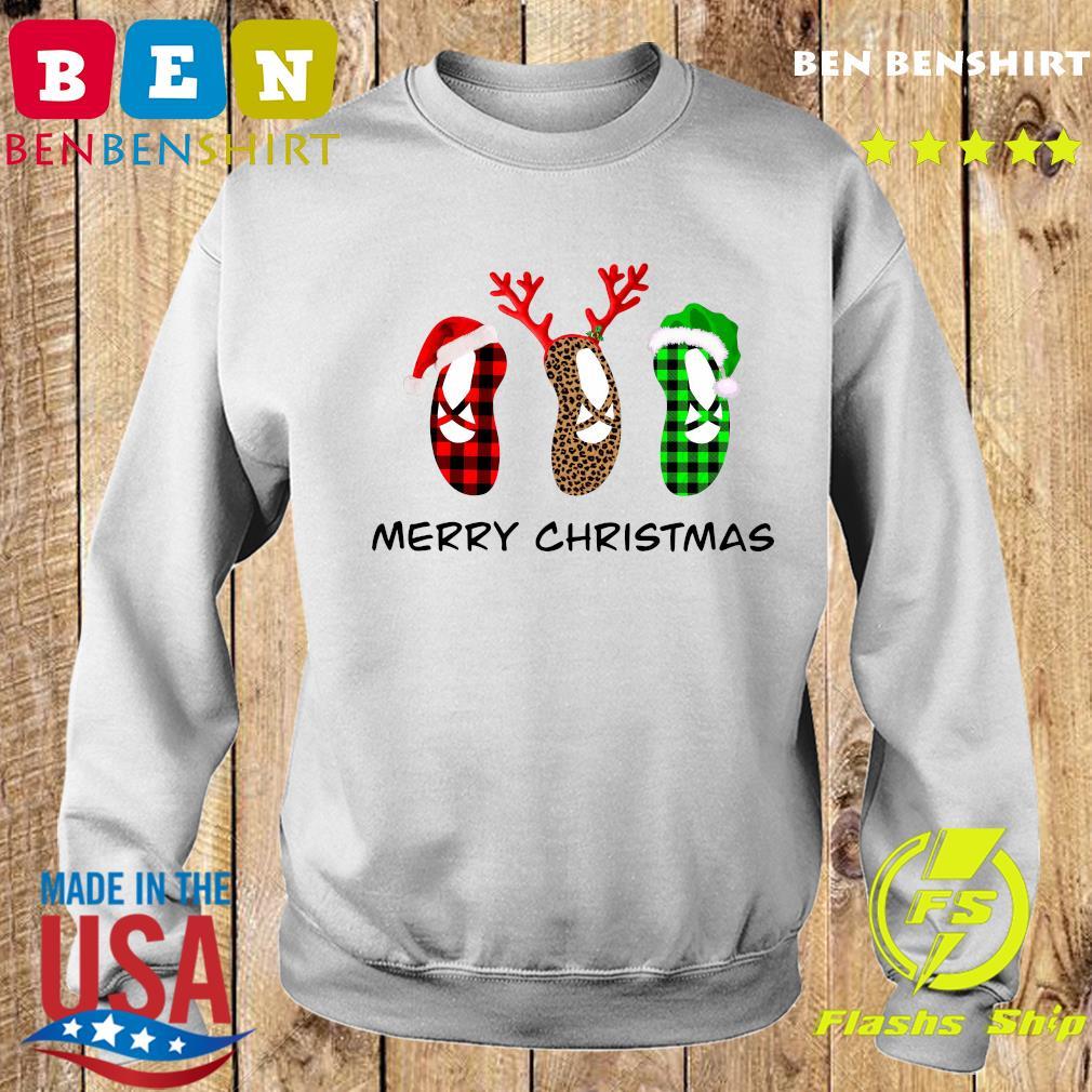 Ballet Shoes Santa Merry Christmas Sweatshirt