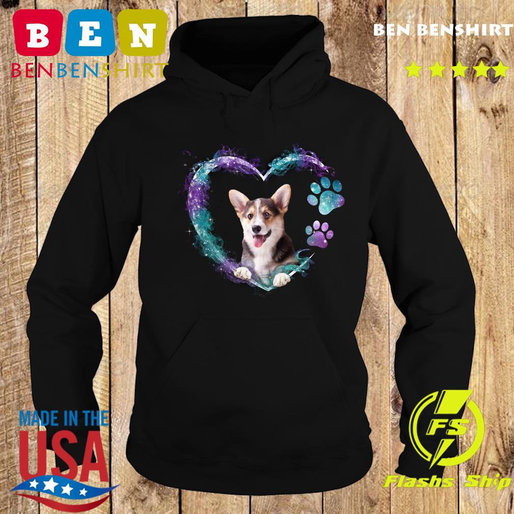Corgi Paw Dog Heart Shirt Hoodie
