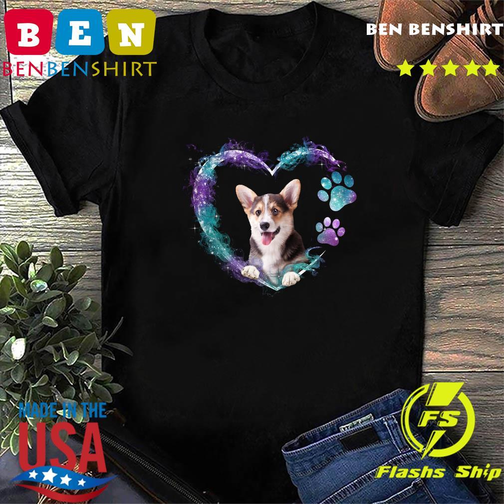 Corgi Paw Dog Heart Shirt