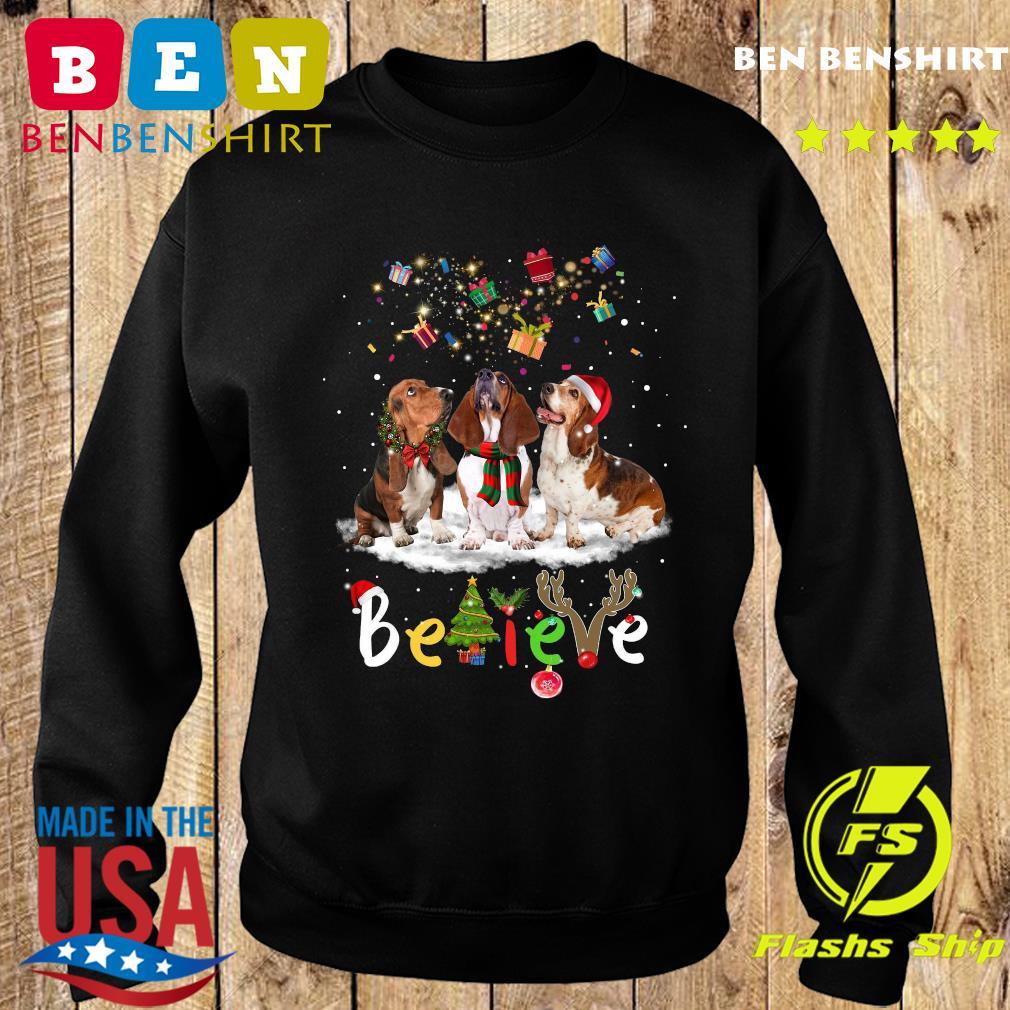 Dachshund Believe Ball Gift Merry Christmas Sweatshirt