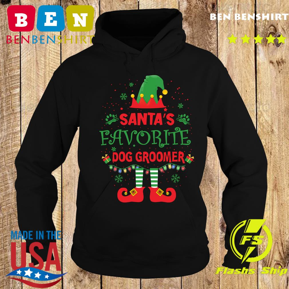 ELF Santa's Favorite Dog Groomer Merry Christmas Sweats Hoodie