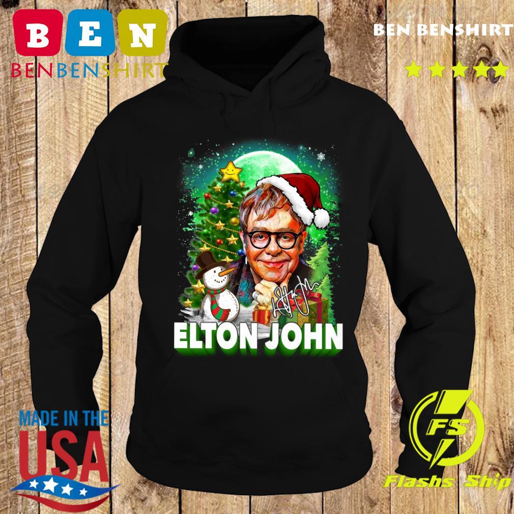 Elton John Santa Snowman Merry Christmas Signature Sweats Hoodie