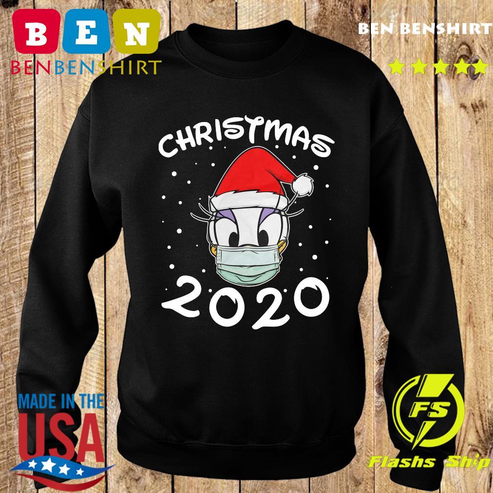 Face Daisy Santa Wear Mask Merry Christmas 2020 Christmas Sweatshirt