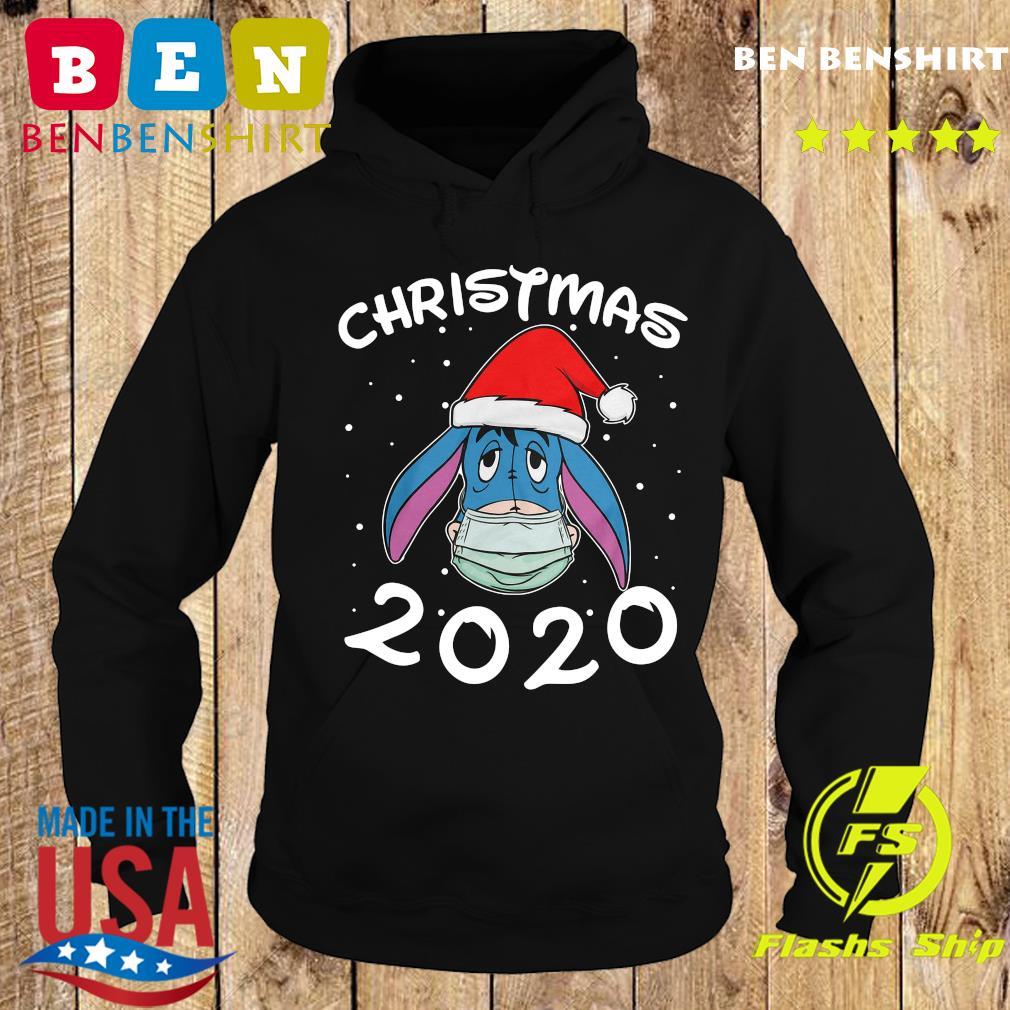 Face Eeyore Santa Wear Mask Merry Christmas 2020 Christmas Sweats Hoodie