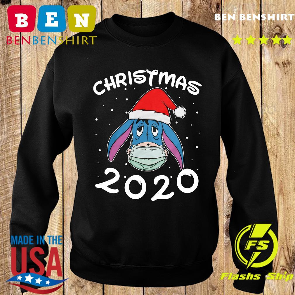 Face Eeyore Santa Wear Mask Merry Christmas 2020 Christmas Sweatshirt