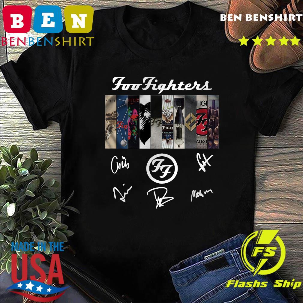 Foo Fighters Logo Signatures Shirt