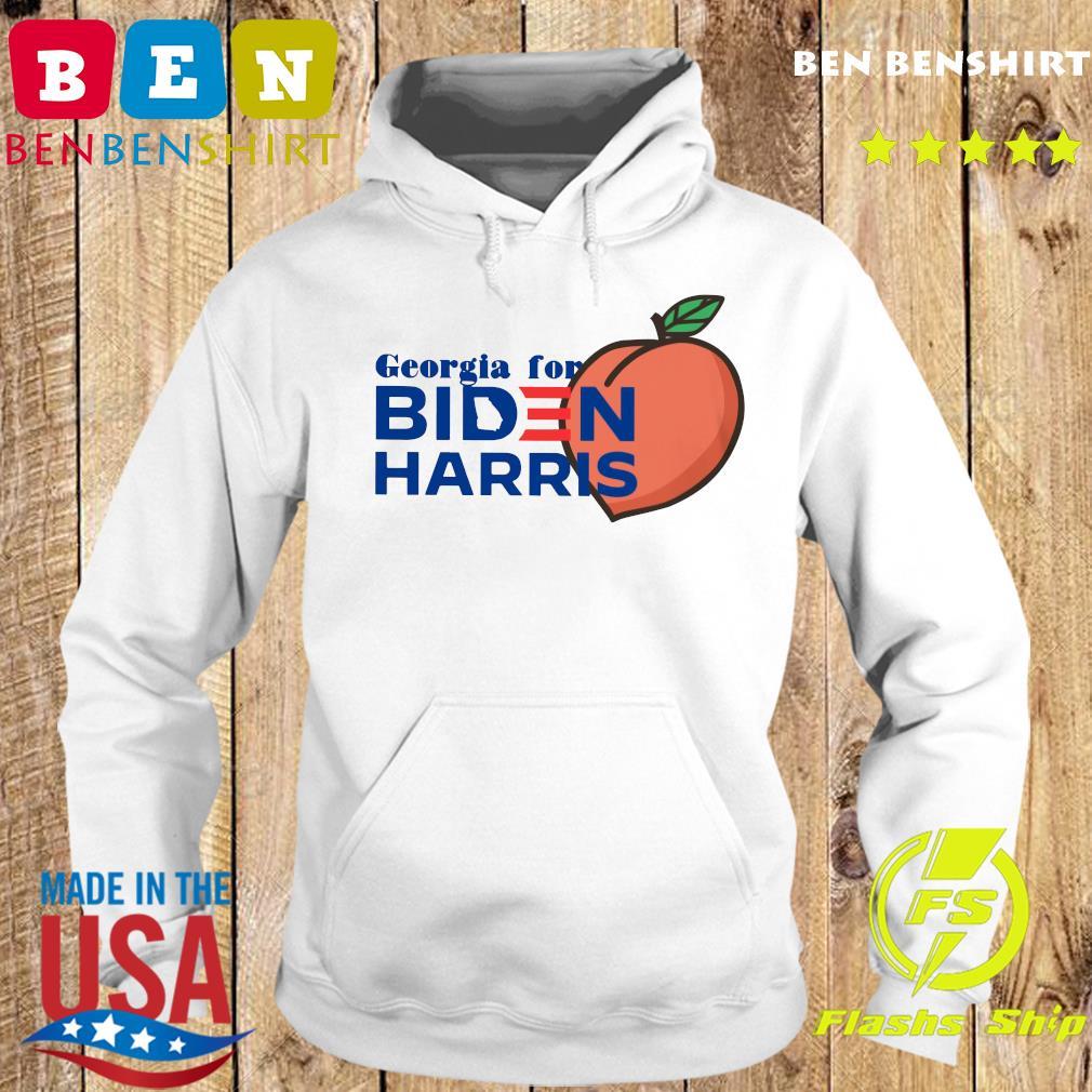 Georgia For Biden Harris Peach Shirt Hoodie