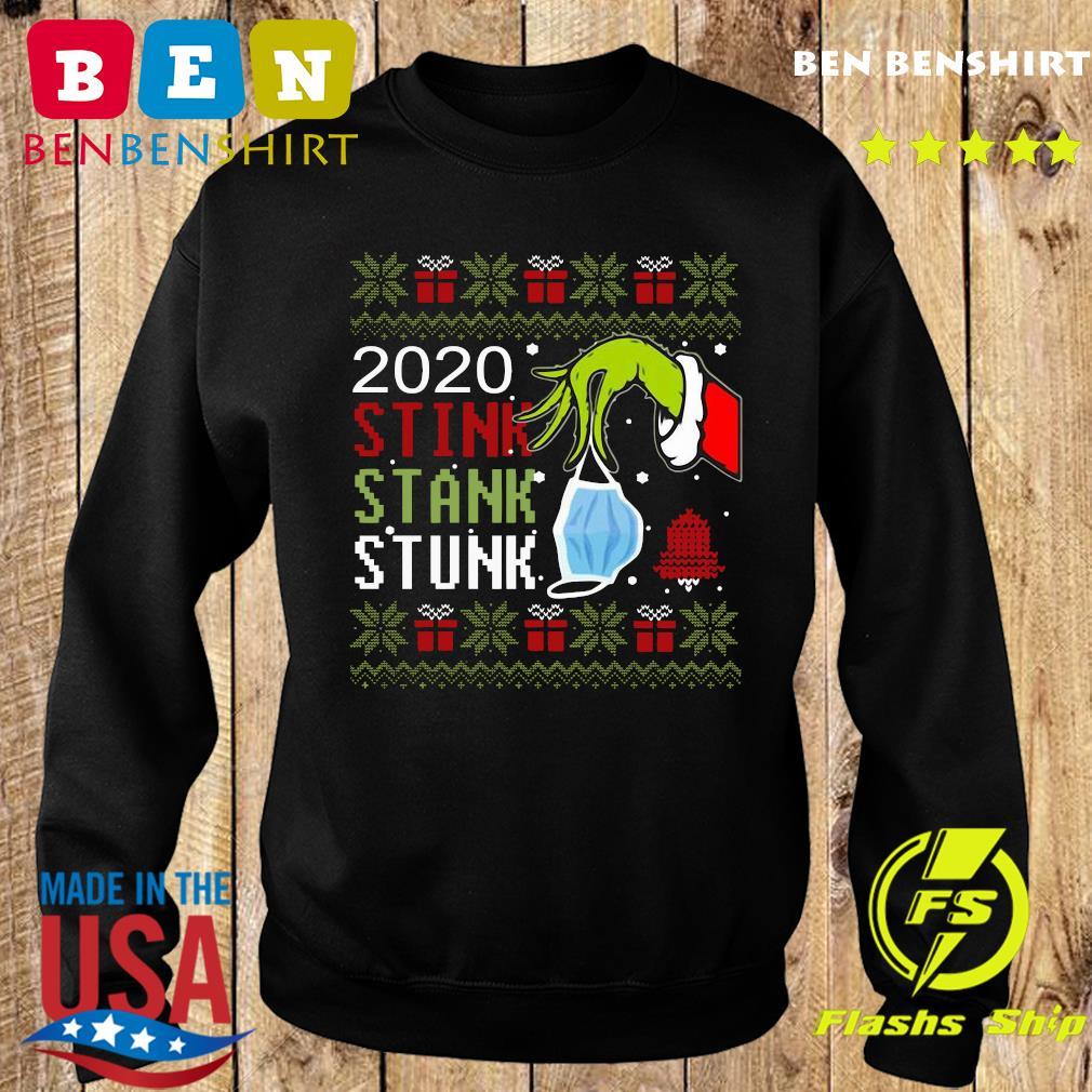 Hand Grinch Holding Mask 2020 Stink Stank Stunk Ugly Christmas Sweatshirt