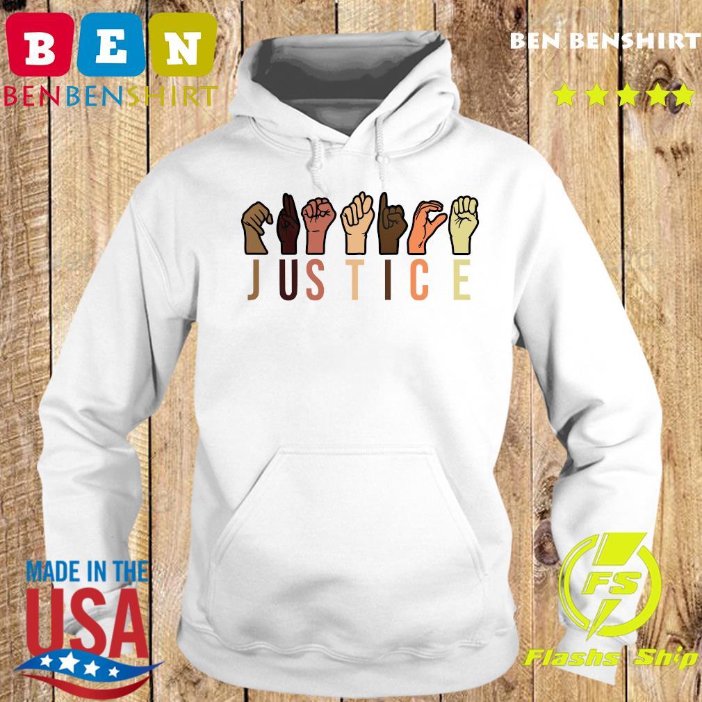 Hands Sign Language Justice Reusable Shirt Hoodie
