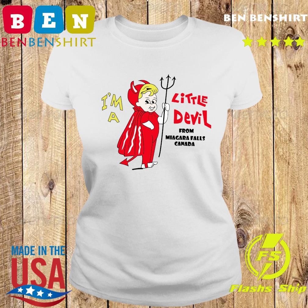 I_m A Little Devil From Niagara Falls Canada Shirt Ladies tee