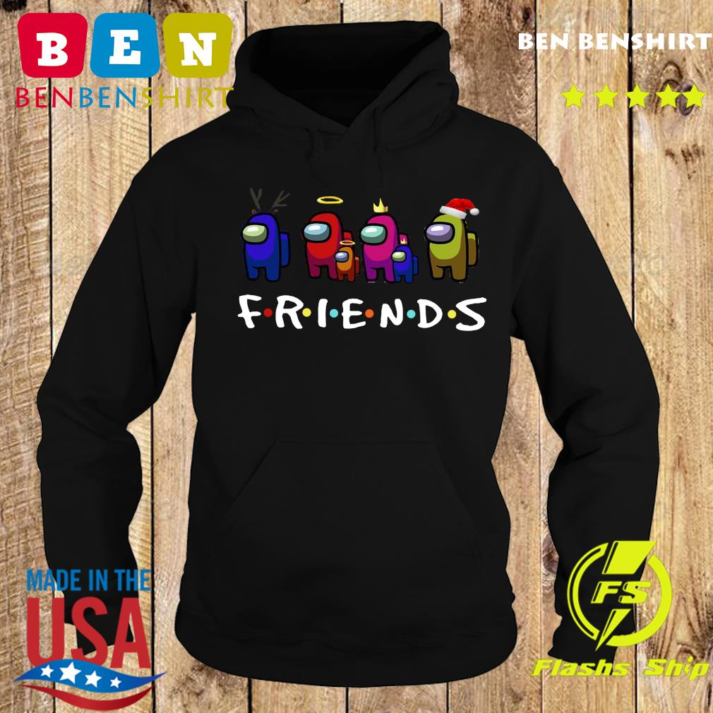 Impostor Among Us And Friends Party Gamer Santa Reindeer Christmas Shirt Hoodie