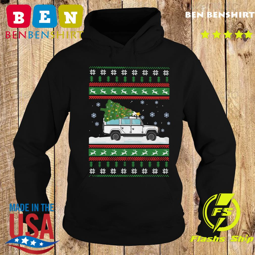 Land Rover Defender 90 Ugly Christmas Sweats Hoodie