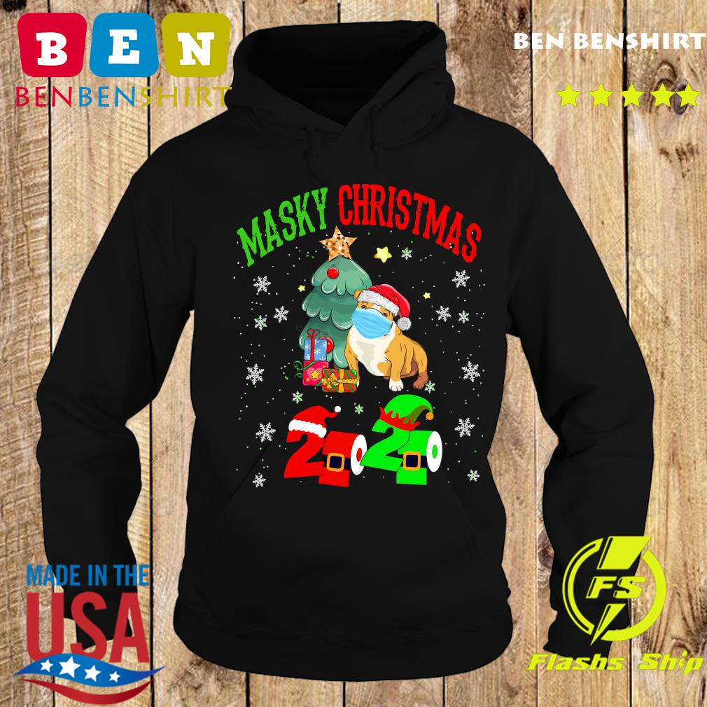 Masky Christmas Pug Santa Face Mask 2020 Elf Toilet Paper Merry Christmas Sweats Hoodie