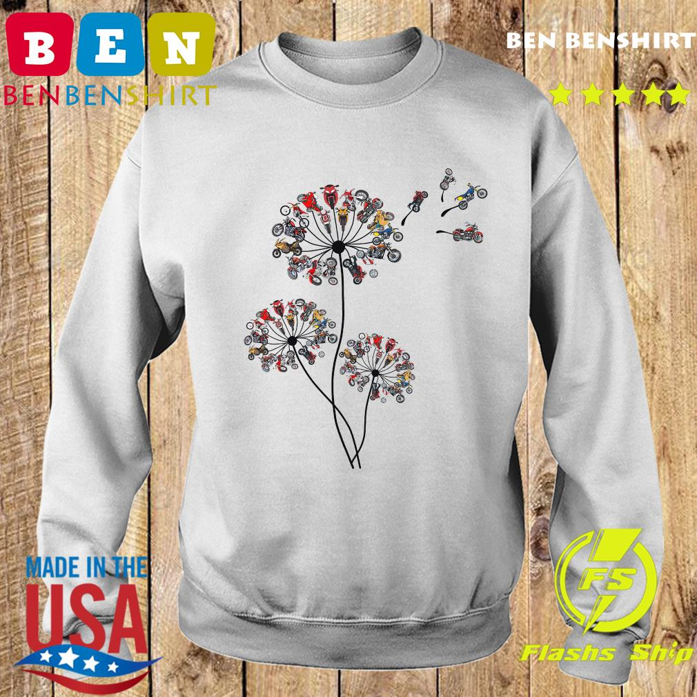 Motorcycle Lover Dandelion Shirt Sweater
