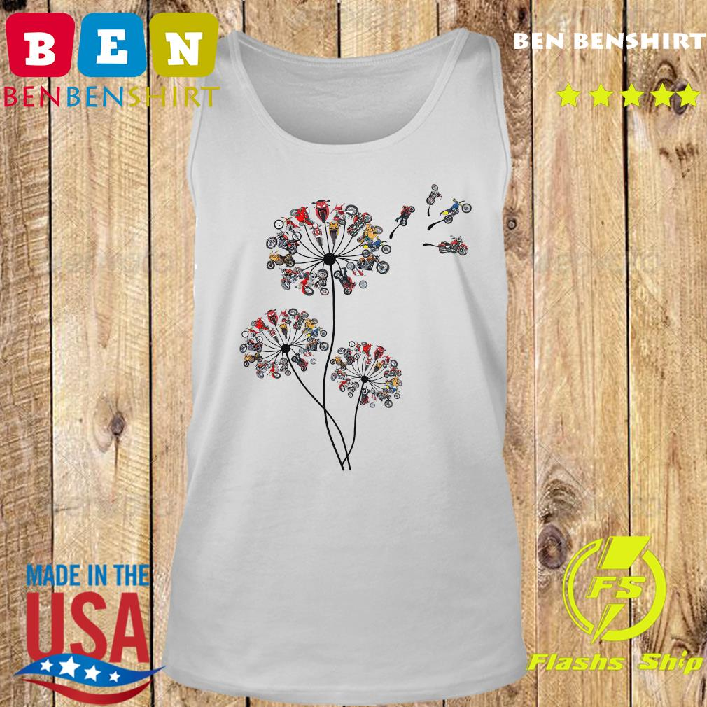 Motorcycle Lover Dandelion Shirt Tank top