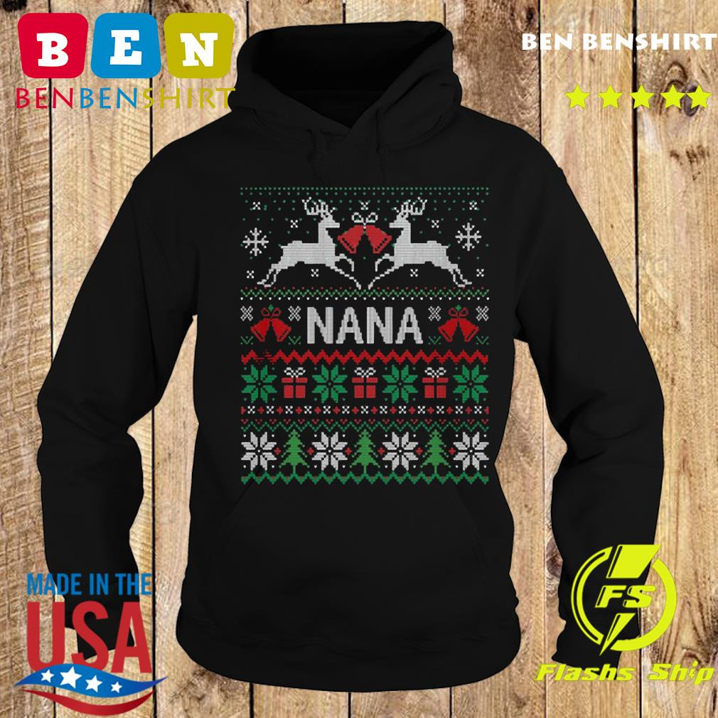 Nana Reindeer Ugly Merry Christmas Gift Sweats Hoodie