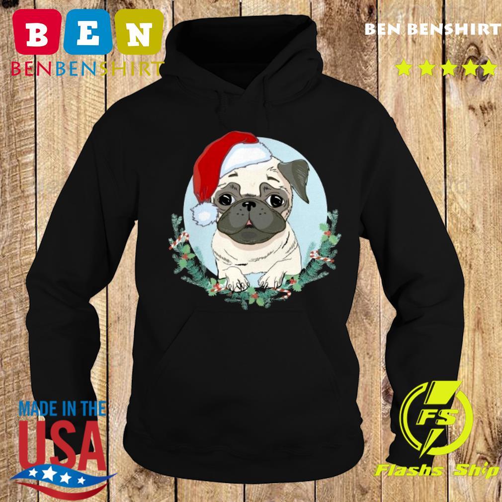 Official Pug Santa Merry Christmas Sweats Hoodie
