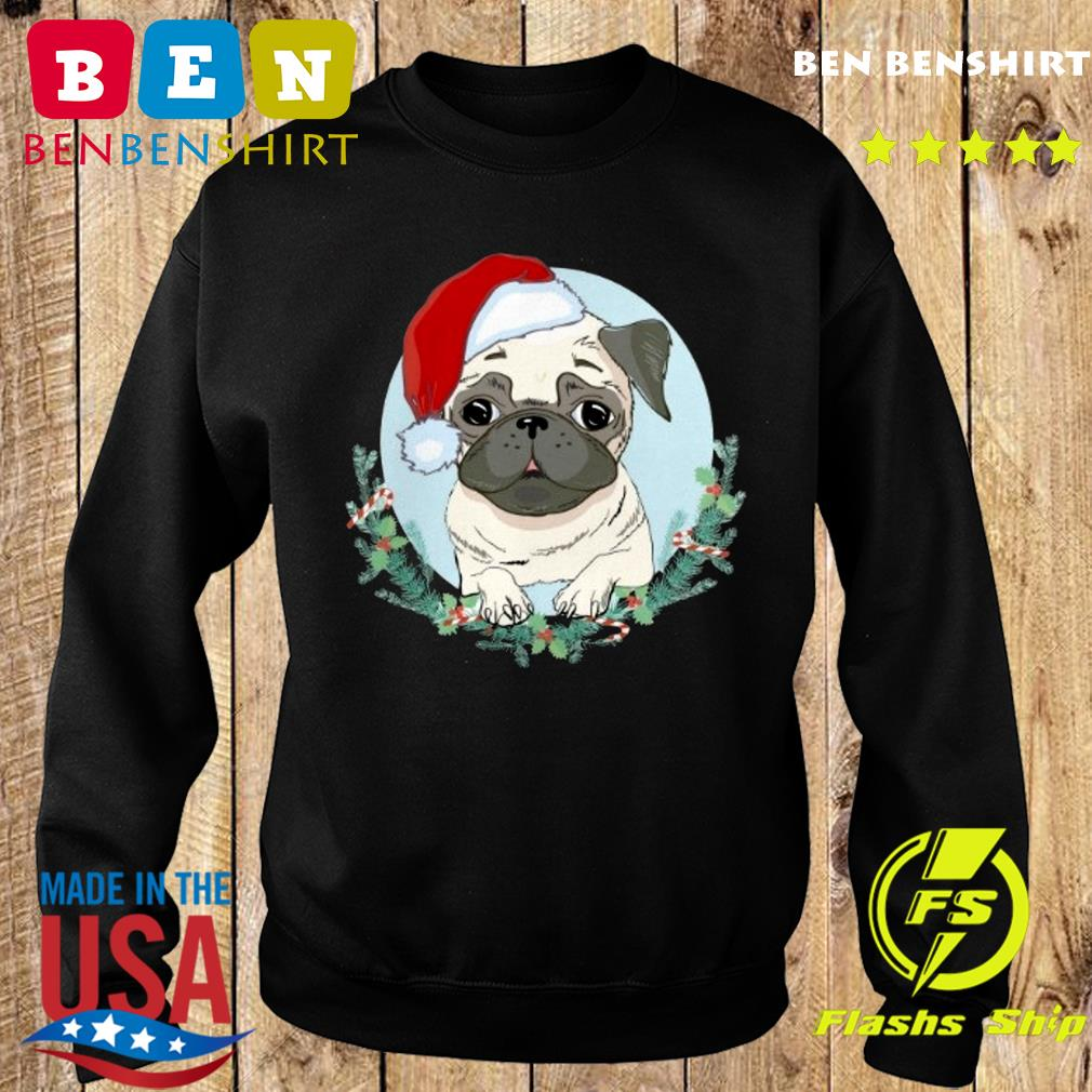 Official Pug Santa Merry Christmas Sweatshirt