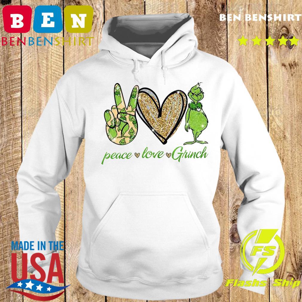 Peace Love Grinch Shirt Hoodie