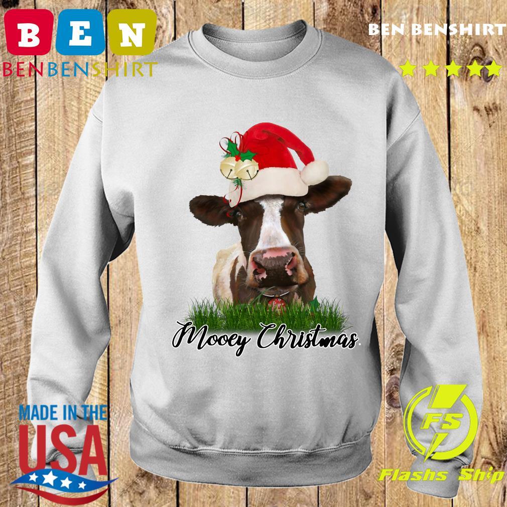 Santa Cow Mooey Christmas Sweatshirt