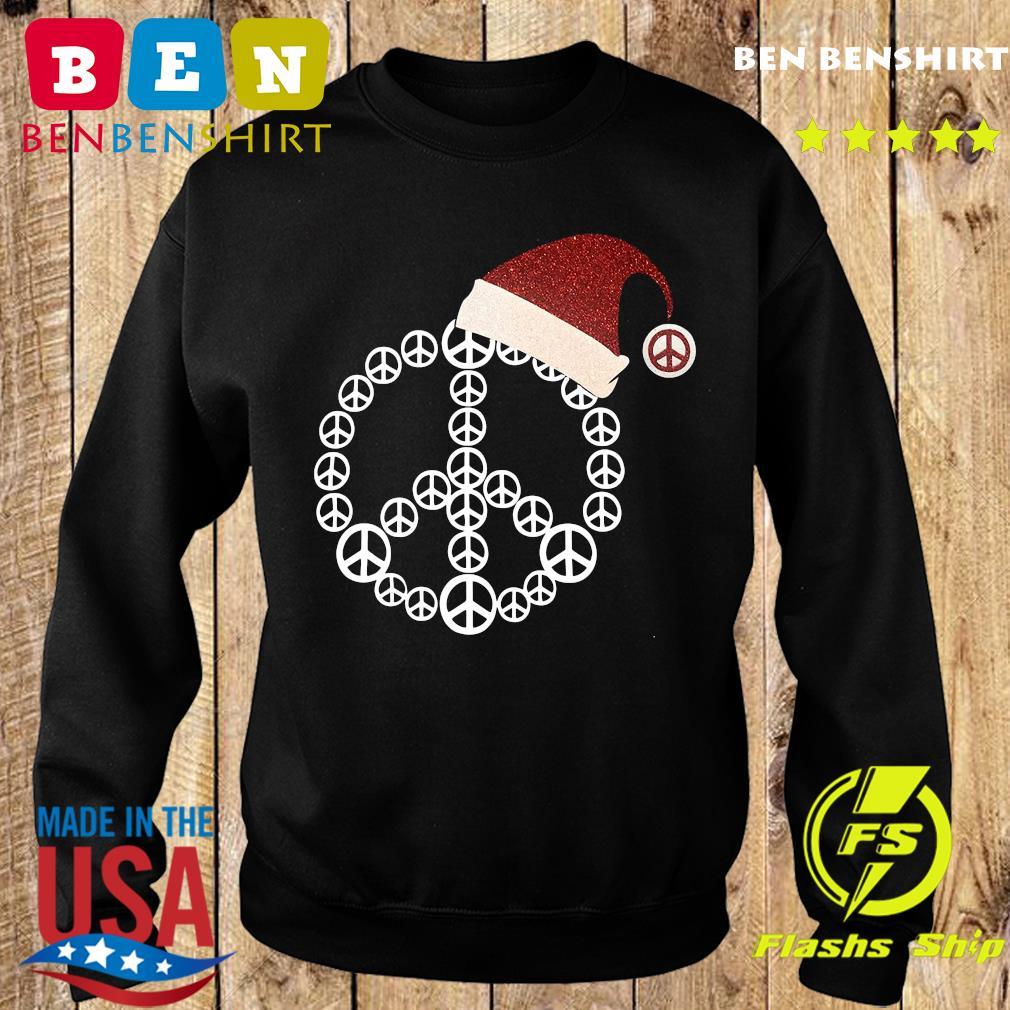 Santa Hat Peace Merry Christmas Sweatshirt