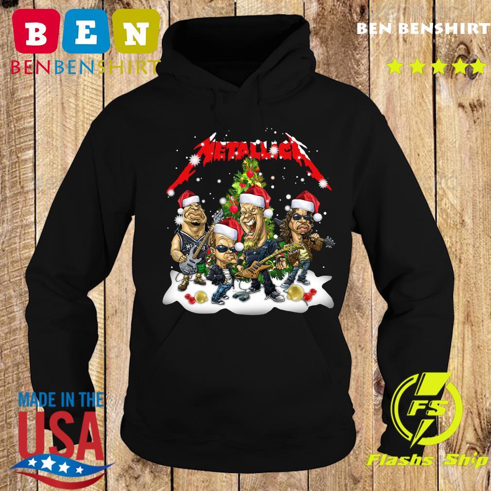 Santa Metallica Rock Band Merry Christmas Tree Sweats Hoodie