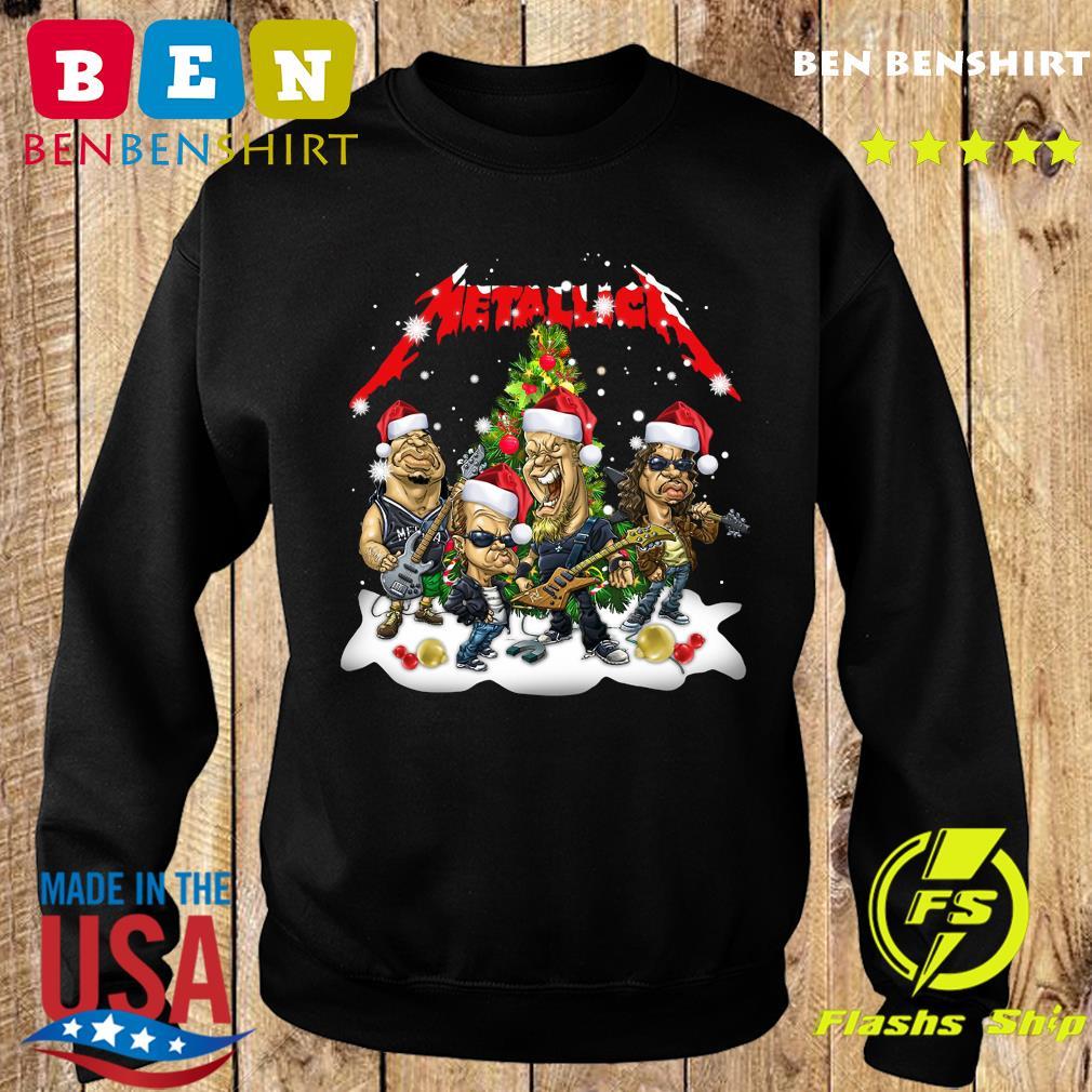 Santa Metallica Rock Band Merry Christmas Tree Sweatshirt