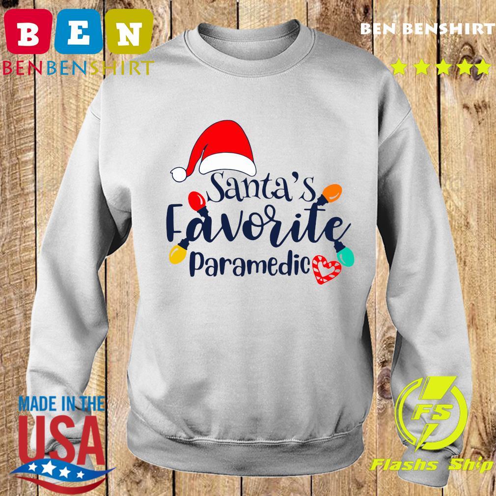 Santa's Favorite Paramedic Christmas Light Sweatshirt