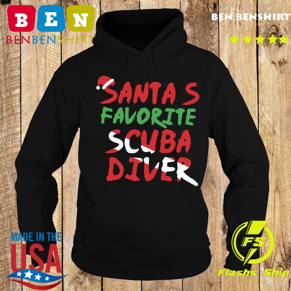 Santa's Favorite Scuba Diver Shirt Hoodie