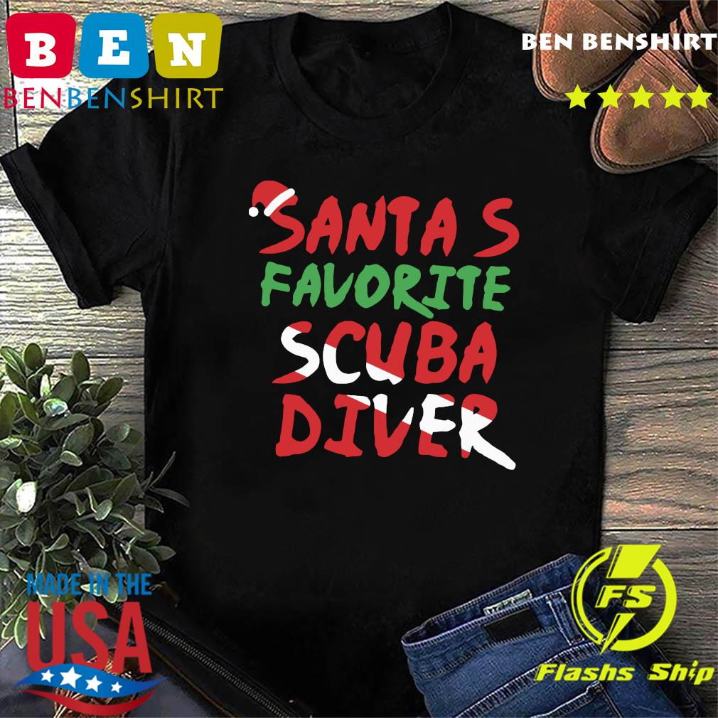 Santa's Favorite Scuba Diver Shirt