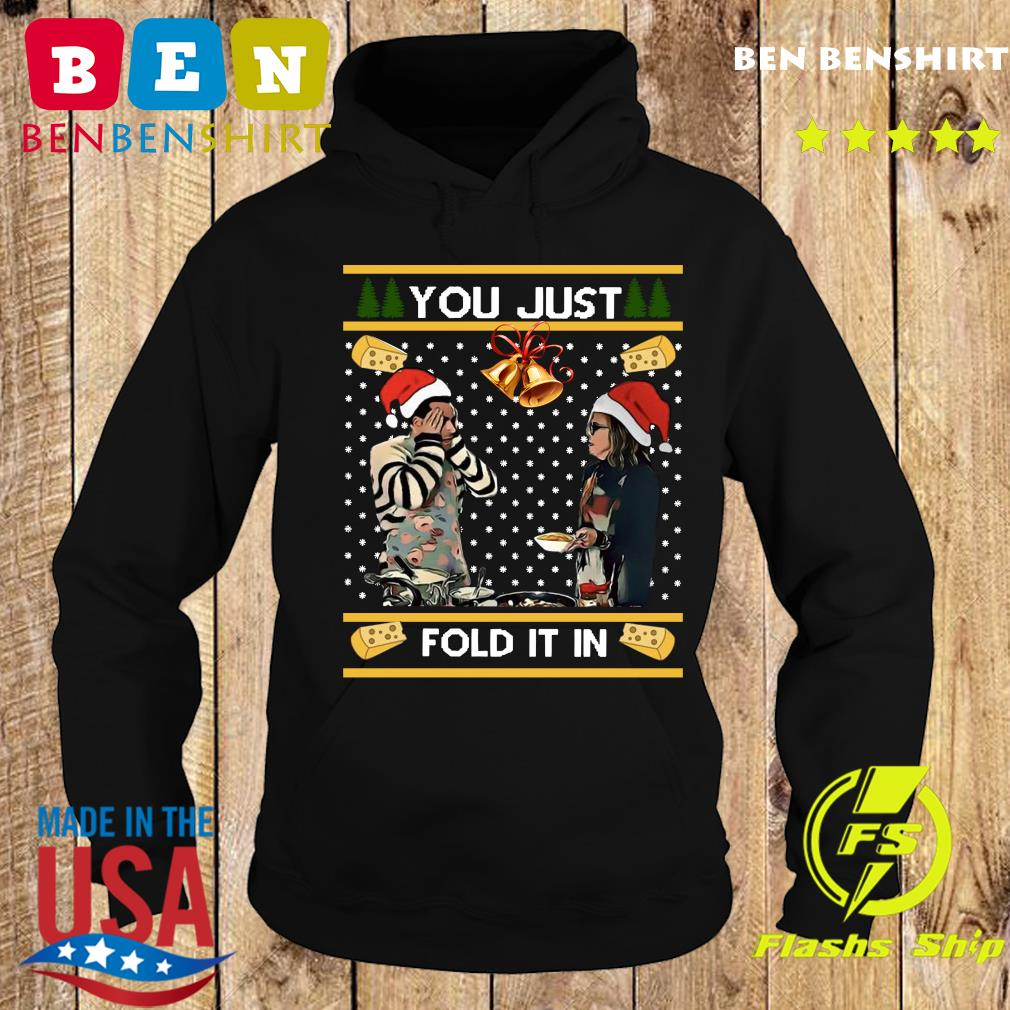 Schitt's Creek You Just Fold It In Merry Christmas Ugly Sweats Hoodie