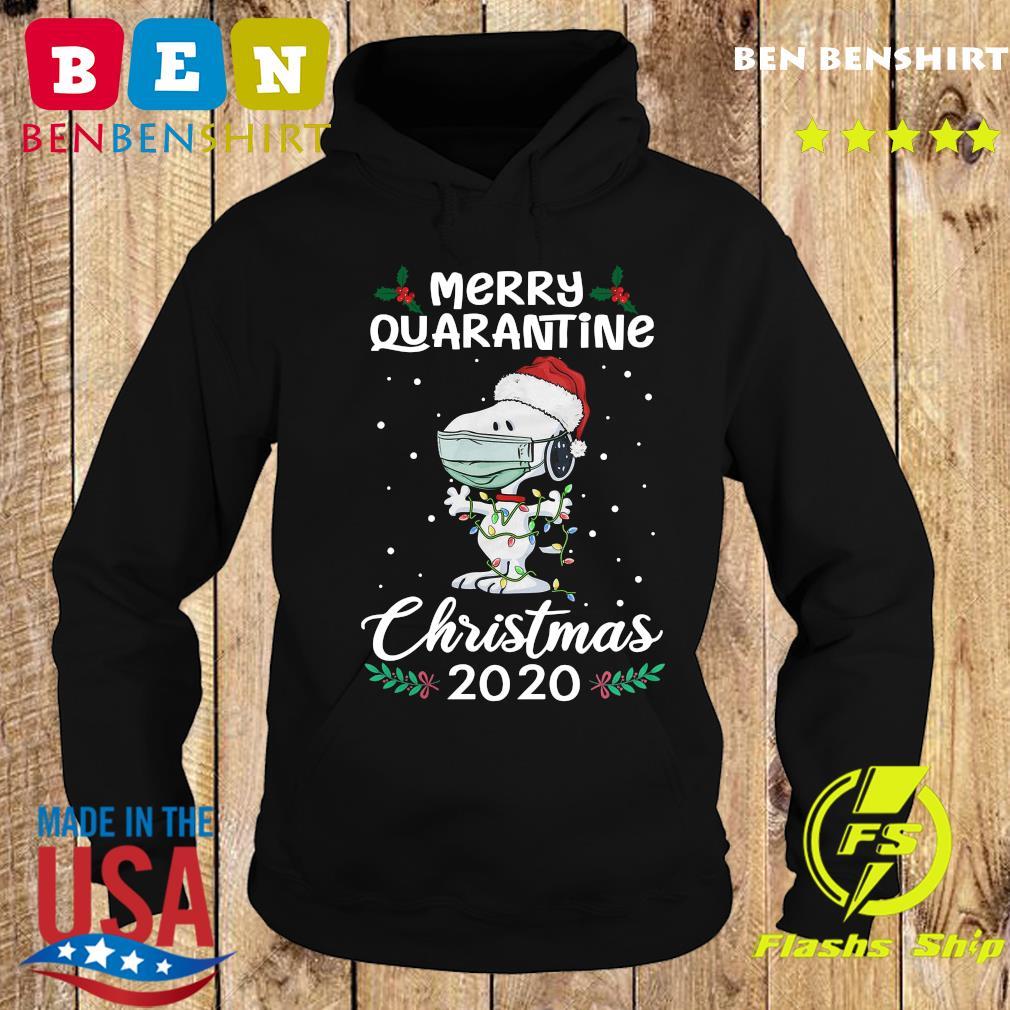 Snoopy Santa Wear Mask Merry Quarantine Christmas 2020 Sweats Hoodie