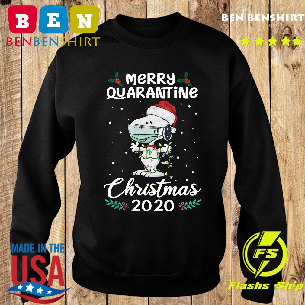 Snoopy Santa Wear Mask Merry Quarantine Christmas 2020 Sweatshirt