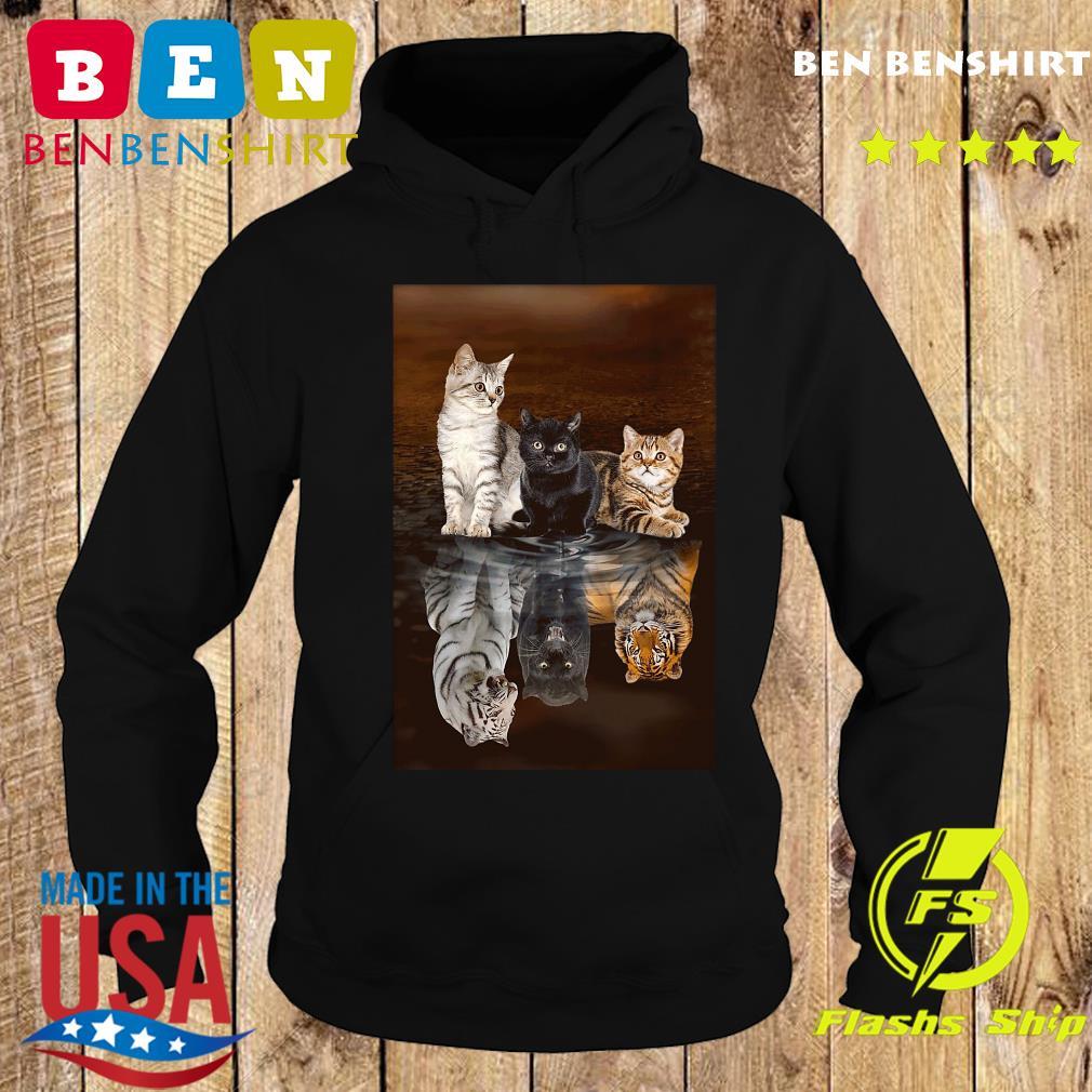 Three Cat Tiger Reflections 5d Diamond Diy Shirt Hoodie