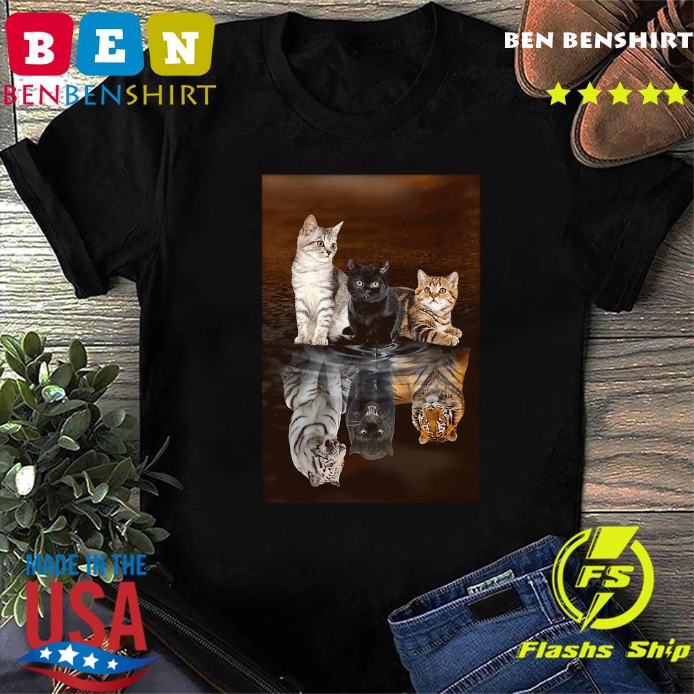 Three Cat Tiger Reflections 5d Diamond Diy Shirt