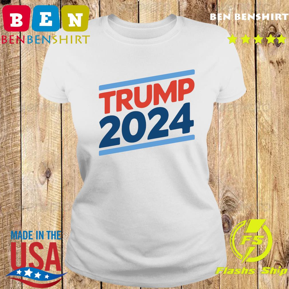 Trump 2024 Retro Crew Neck Shirt Ladies tee