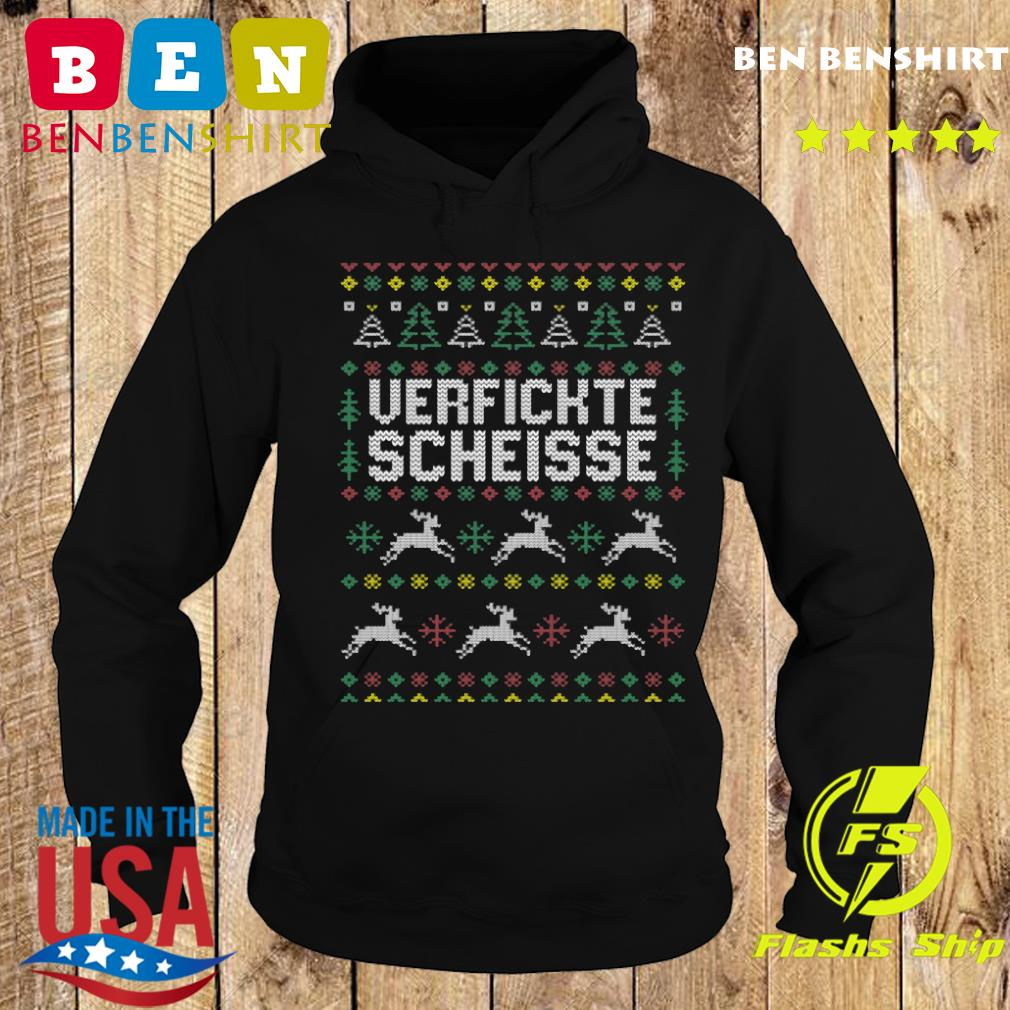 Verfickte Scheisse Ugly Merry Christmas Sweats Hoodie