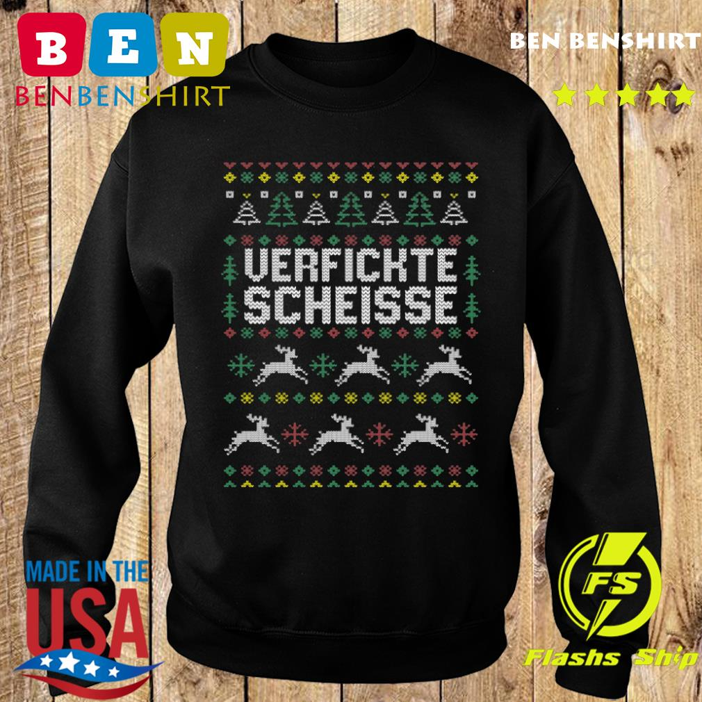 Verfickte Scheisse Ugly Merry Christmas Sweatshirt