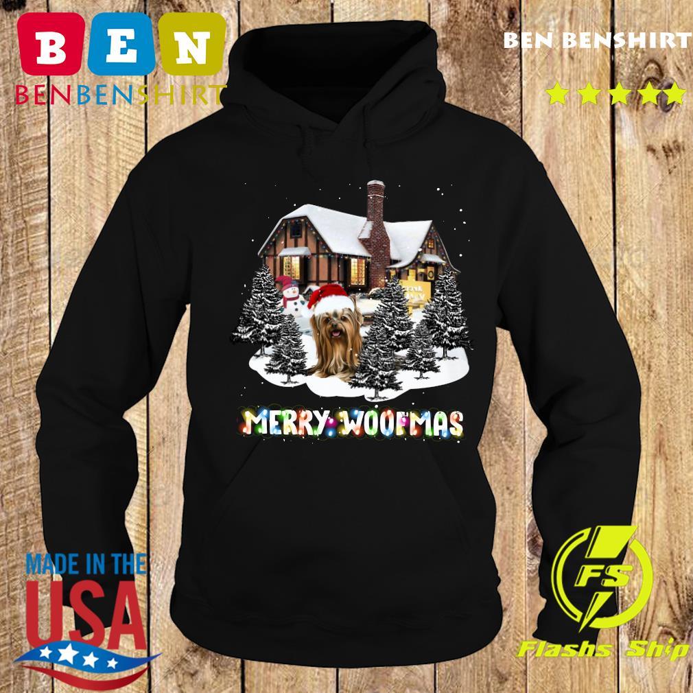 Yorkshire Terrier House Merry Woofmas Christmas Tree Sweats Hoodie