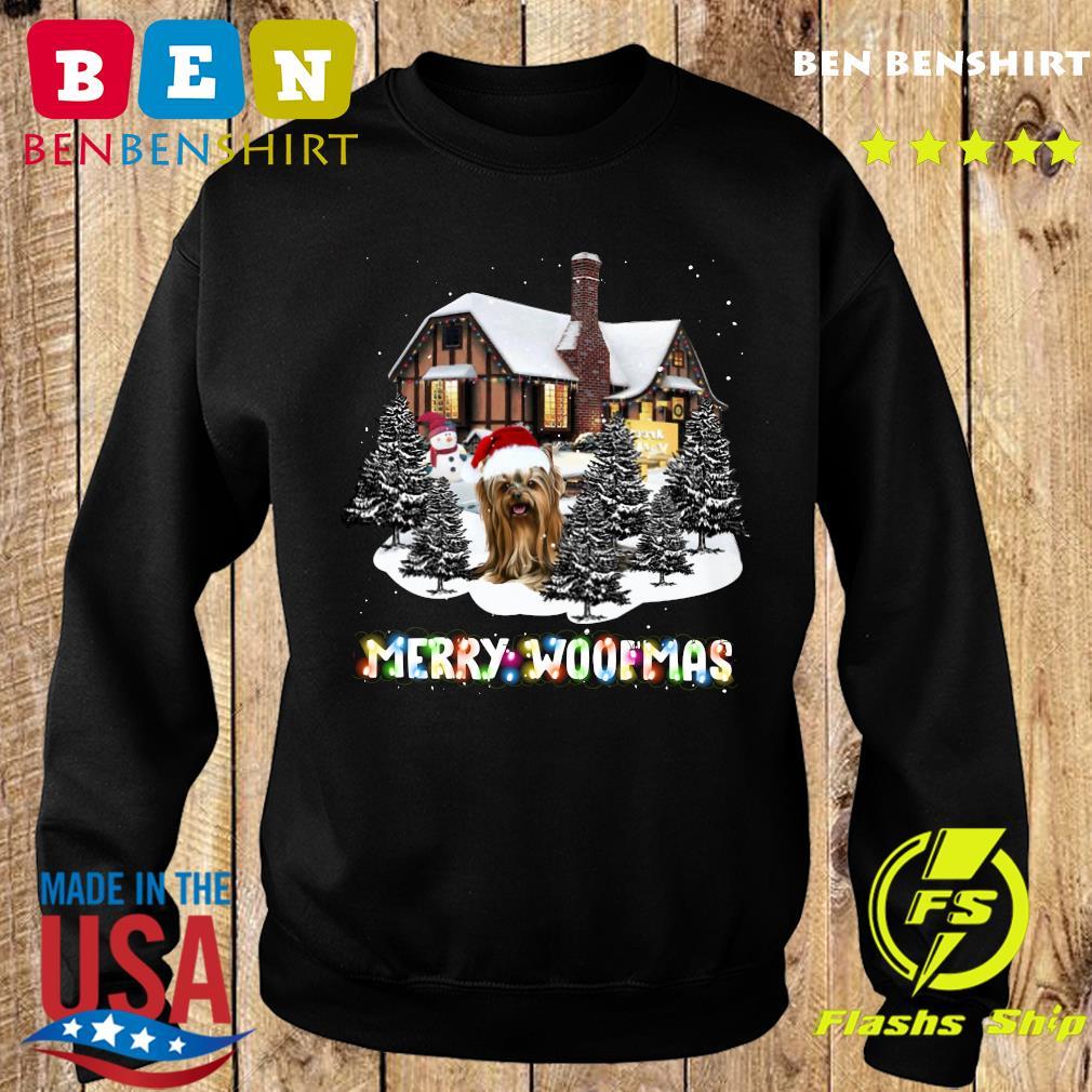 Yorkshire Terrier House Merry Woofmas Christmas Tree Sweatshirt