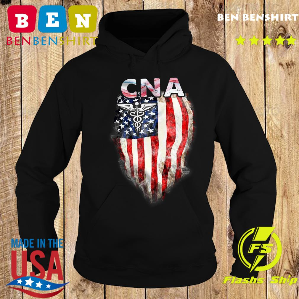 Cna Gift American Flag Shirt Hoodie